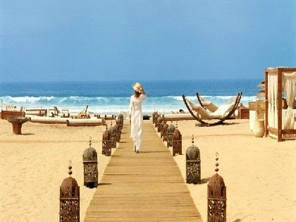 City of the sun, golden beach and relaxing holiday