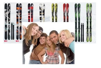 How can a large company with skis get to the hotel?