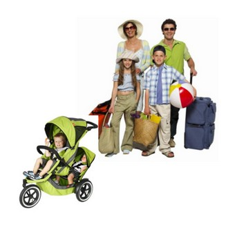 Travel with children and luggage