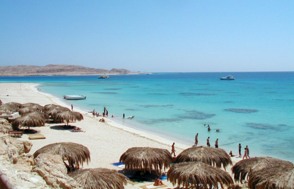 Egypt beach on the Red Sea.